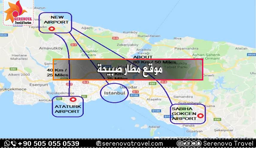 موقع مطار صبيحة